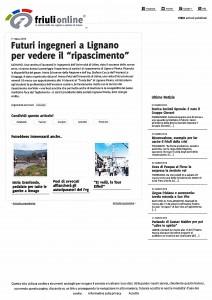 La dragaggi srl -Friuli on line - marzo 2016